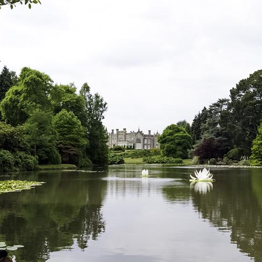 Image showing the lake at Sheffield park gardens.
